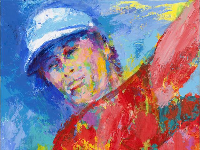 LeRoy Neiman (American, 1921-2012) Portrait of Paul Azinger Portrait of Paul Azinger