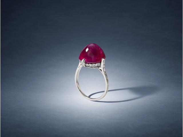 A ruby single-stone ring, by Van Cleef & Arpels,