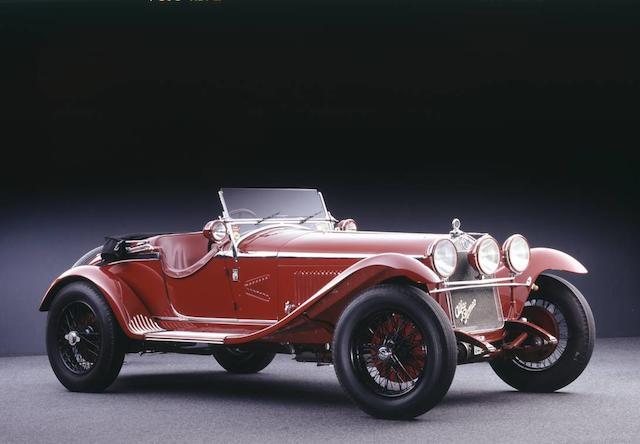 Autrefois propriété de Giuseppe Campari ,Alfa Romeo 6C 1750 5e série à compresseur spider Gran Sport 1931