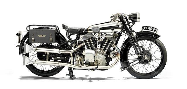 1929 Brough Superior 986cc SS100 'Alpine Grand Sports' Frame no. S987 Engine no. JTO/C 21326/T