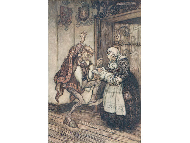 RACKHAM (ARTHUR) BROTHERS GRIMM. The Fairly Tales of the Brothers Grimm, NUMBER 266 OF 750 COPIES SIGNED BY THE ILLUSTRATOR, Constable, 1909