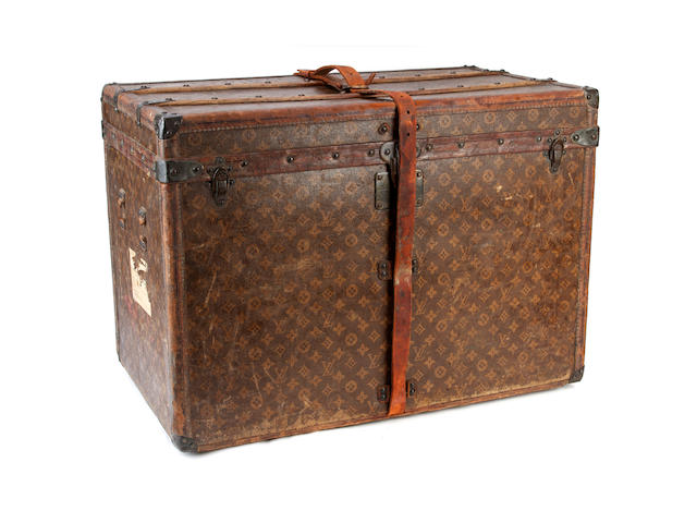 LOUIS VUITTON: A monogrammed trunk circa 1905