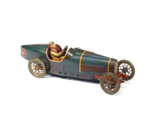 Rare large Paya tinplate c/w Racing car, Spanish circa 1930