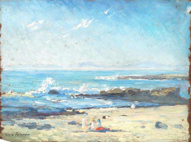 Alice Maud Fanner (British, 1865-1930) 'The Seashore'; 'Southampton Water', a pair each 26.3 x 35.6cm (10 3/8 x 14in).(2)