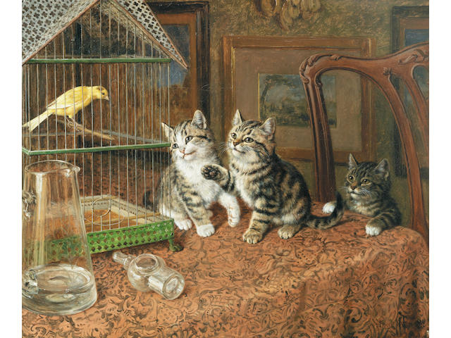 Frank Paton (British, 1856-1909) While the cat's away