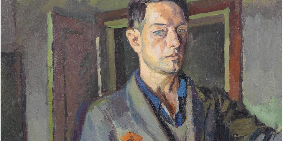 Duncan Grant (British, 1885-1978) Self-portrait 76.2 x 55.8 cm. (30 x 22 in.) (Painted in 1925)