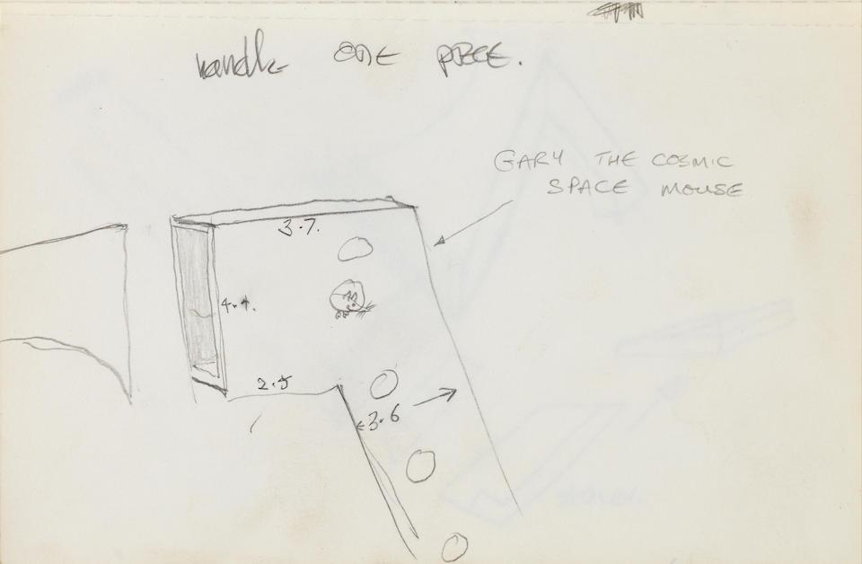 GARY MORGA: A unique silver plated teapot Camberwell School of Art, London 1984