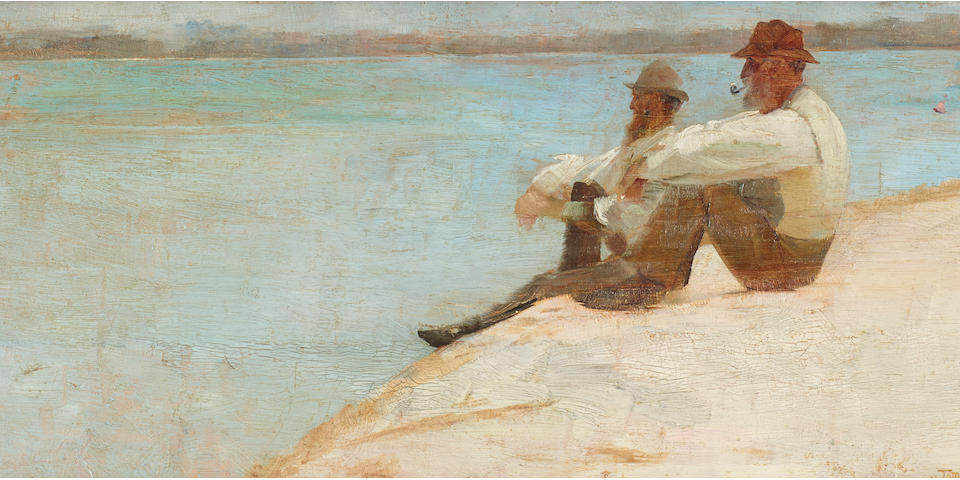 Tom Roberts (1856-1931) On the Beach, Port Macquarie, 1896