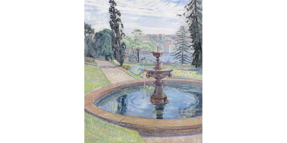 Roy De Maistre (1894-1968) Government House Gardens and Fountain
