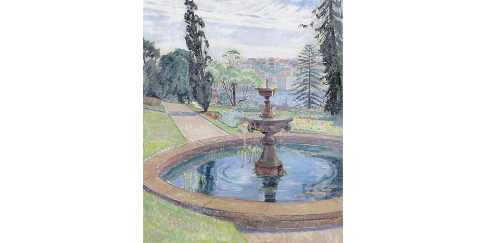 Roy De Maistre (1894-1968) Government House Gardens and Fountain