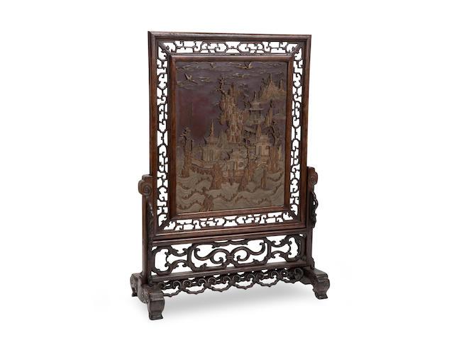 A 'duan' stone table screen Circa 1800