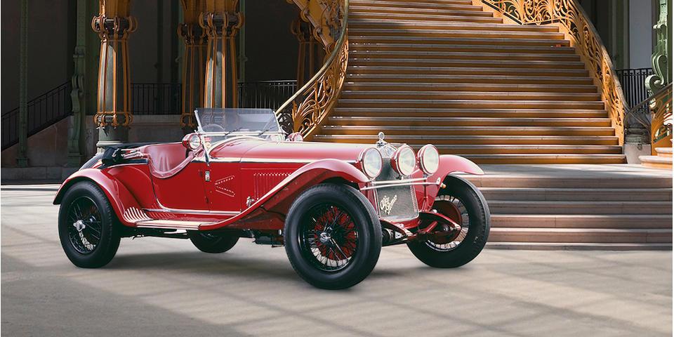 Autrefois propriété de Giuseppe Campari ,Alfa Romeo 6C 1750 à compresseur spider Gran Sport 1931