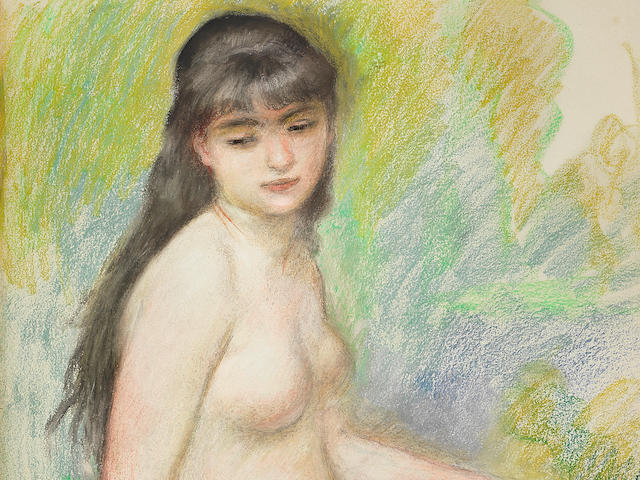 Pierre-Auguste Renoir (1841-1919) La baigneuse assise (Executed in 1883)
