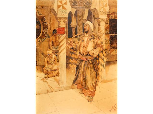Giuseppe Signorini (Italian, 1857-1932) A North African musketeer