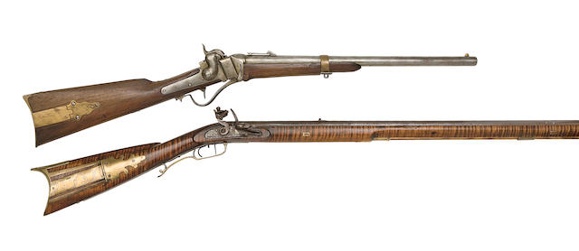 A .52 Breech-Loading Percussion Carbine Of Sharps 1853 Model Type
