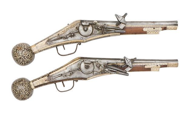 A Brace Of German Wheel-Lock Holster Pistols (Puffer)