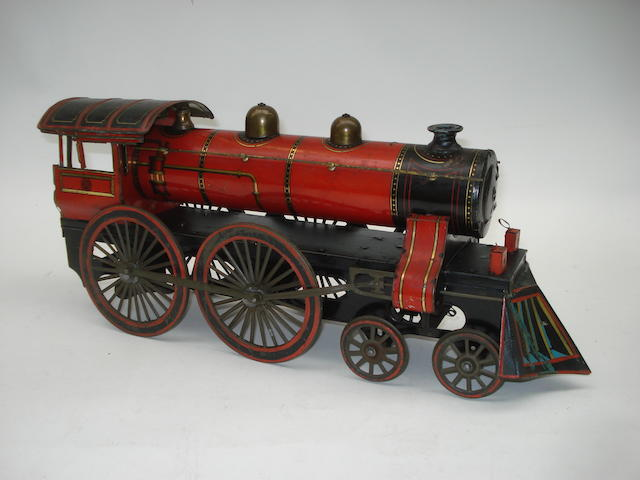 Gunthermann tinplate c/w 4-4-0 American outline Floor Train, German circa 1910