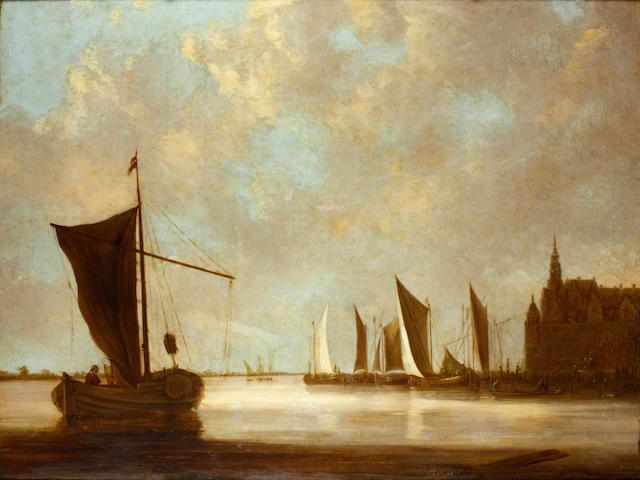 Dutch School, 17th Century Shipping in a calm sea