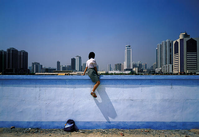 Weng Fen (Chinese, born 1961) On the Wall - Guangzhou (1)