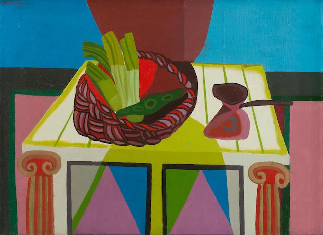 Robert MacBryde (British, 1913-1966) Still Life 58 x 77 cm. (22 13/16 x 30 5/16 in.) (Painted circa 1955)