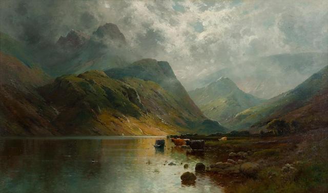 Alfred Fontville de Breanski (British, 1877-1957) In the West Highlands 76.5 x 127.5 cm. (30 1/8 x 50 3/16 in.)