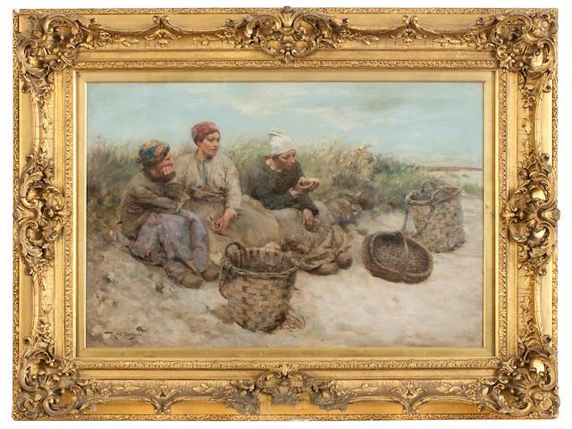 Robert McGregor RSA (British, 1847-1922) A Midday Rest 51.5 x 77 cm. (20 1/4 x 30 5/16 in.)