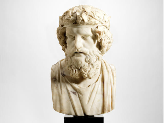 Peter Anton Verschaffen (1710-1793): The Wentworth Woodhouse marble bust of Mithridates after the Antique
