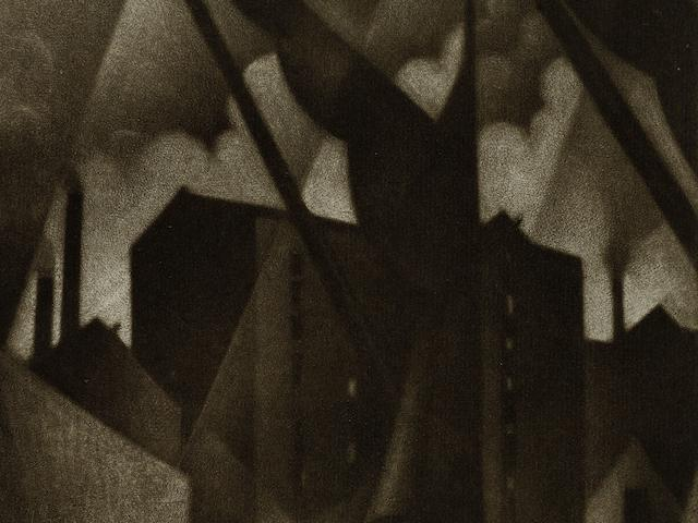Christopher Richard Wynne Nevinson (British, 1889-1946) Southwark (Limehouse) The rare mezzotint, 1918, a rich tonal impression with velvety blacks and delicate highlights, on partially watermarked F. J. Head & Co. hand-made laid, signed in pencil, with margins, 225 x 150mm (8 7/8 x 5 7/8in) (PL) unframed