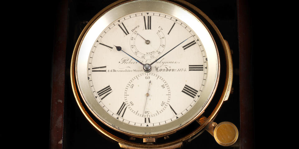 The property of Captain Robert FitzRoy, an historically important second quarter of the 19th century two day marine chronometer present on the second and third voyages of HMS Beagle Robert Molyneux, 44 Devonshire Street, London, No.1175