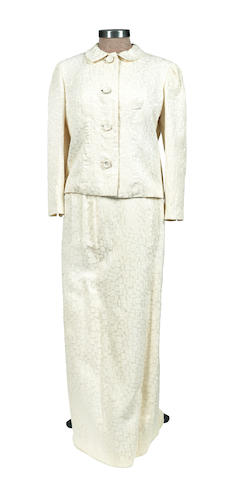 Marlene Dietrich: An evening suit of ivory cloqué owned by Marlene Dietrich, circa 1962,