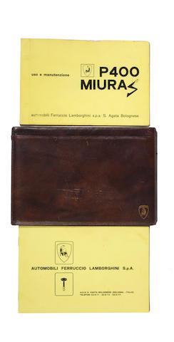 A handbook for a Lamborghini Muira 400S, Italian, late 1960s, ((3))