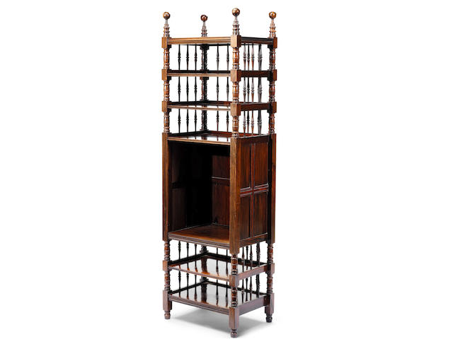 An Important Victorian Aesthetic rosewood whatnot  The design by Philip Webb for William Morris