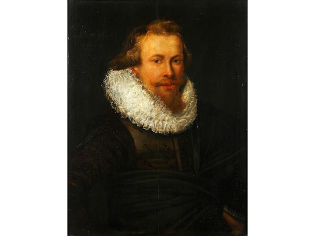 Circle of Thomas de Keyser (Dutch, 1596-1667) Portrait of a gentleman, half-length, in black costume