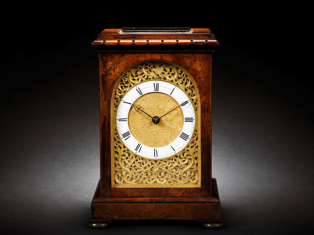 A fine mid 19th century rosewood mantel clock Arnold, Charles Frodsham, 84 Strand, number 825