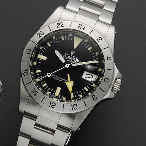Rolex. A fine stainless steel automatic calendar bracelet watch Explorer II, Ref:1655, Case No. 6205***, Circa 1979