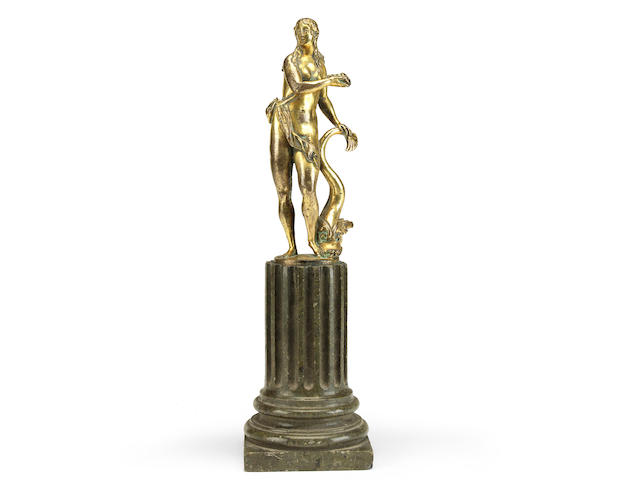 Circle of Alessandro Vittoria (Italian  1525-1608)A late 16th century gilt bronze figure of Venus Marina