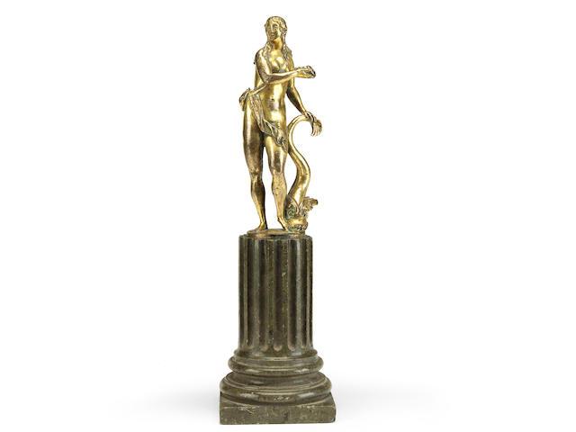 Circle of Alessandro Vittoria (Italian  1525-1608)A late 16th century gilt bronze figure of Venus Marina
