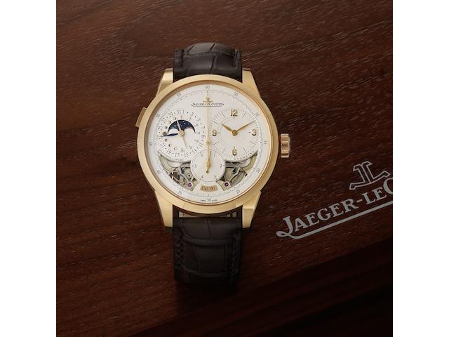 Jaeger-LeCoultre. An 18ct rose gold automatic calendar wristwatch with moonphase Duomètre à Quantième Lunaire, Ref:600.2.24.S, Case No.2898557,  Sold 3rd May 2014
