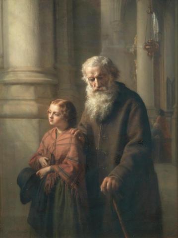 Josephus Laurentius Dyckmans (Belgian, 1811-1888) A good deed