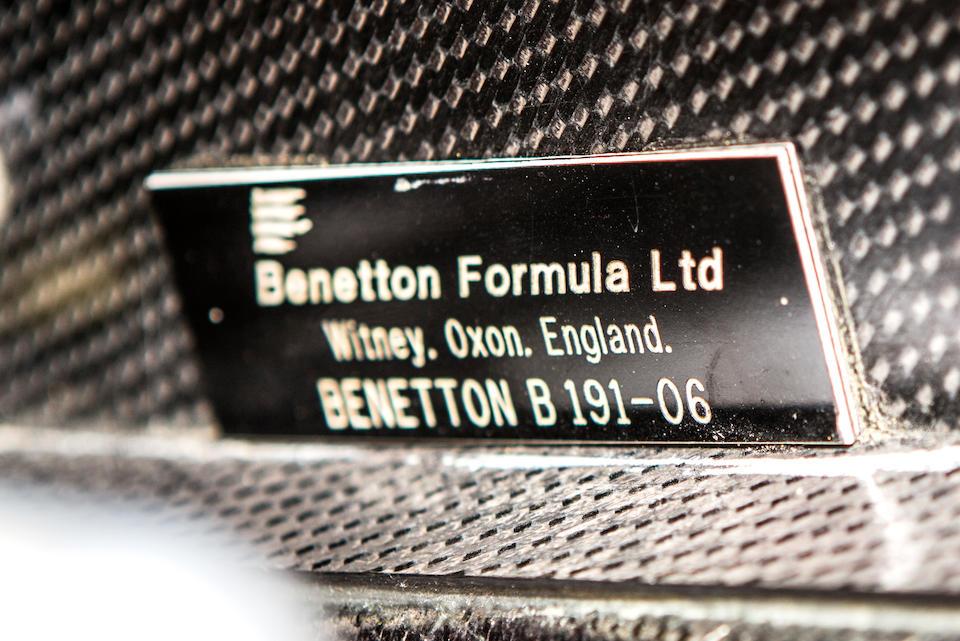 The Ex-Michael Schumacher, Nelson Piquet, Martin Brundle,1991-1992 Benetton-Ford B191/191B Formula 1 Racing Single-Seater  Chassis no. B191B-06