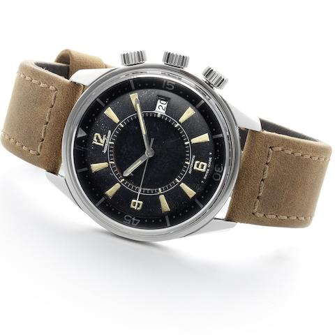 Jaeger-LeCoultre. A stainless steel automatic calendar alarm wristwatch Memovox Polaris, Ref:E859, Case No.987470, Movement No.2100513, second pattern dial, Made for the European Market, Circa 1969