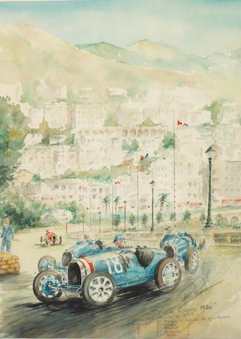ROB ROY (ROBERT DE LA RIVIERE, FRANÇAIS, 1909-1992), « GRAND PRIX DE MONACO 1930 »,