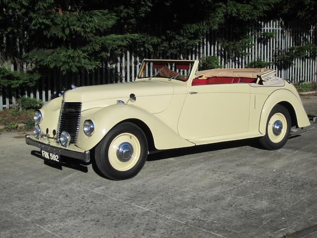 1946 Armstrong Siddeley 16hp Hurricane Drophead Coupé  Chassis no. C162349 Engine no. E162389