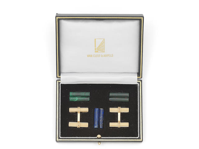 A set of interchangable cufflinks, by Van Cleef & Arpels
