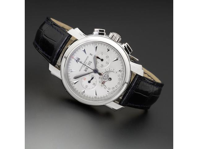 Vacheron Constantin. A very fine and rare platinum wristwatch with perpetual calendar and moon phases  wristwatch No.902883, Case No.779155, Ref:4711/1, circa 2000