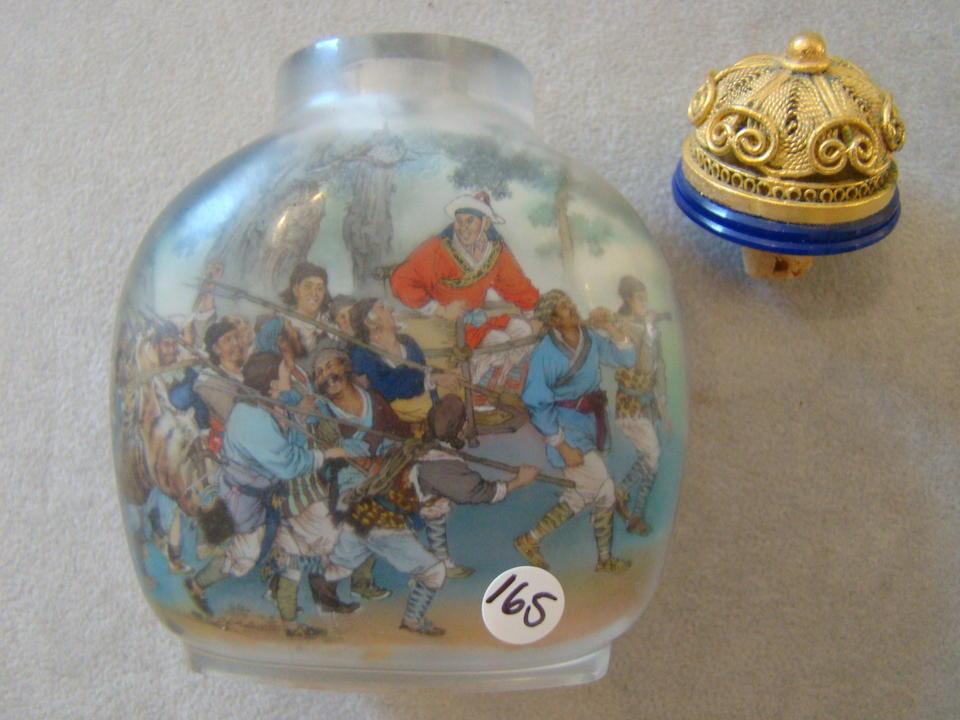 Two Chinese inside painted glass snuff bottles Yi Zi, Chen Runpu (b. 1946), early to mid 20th century (2)
