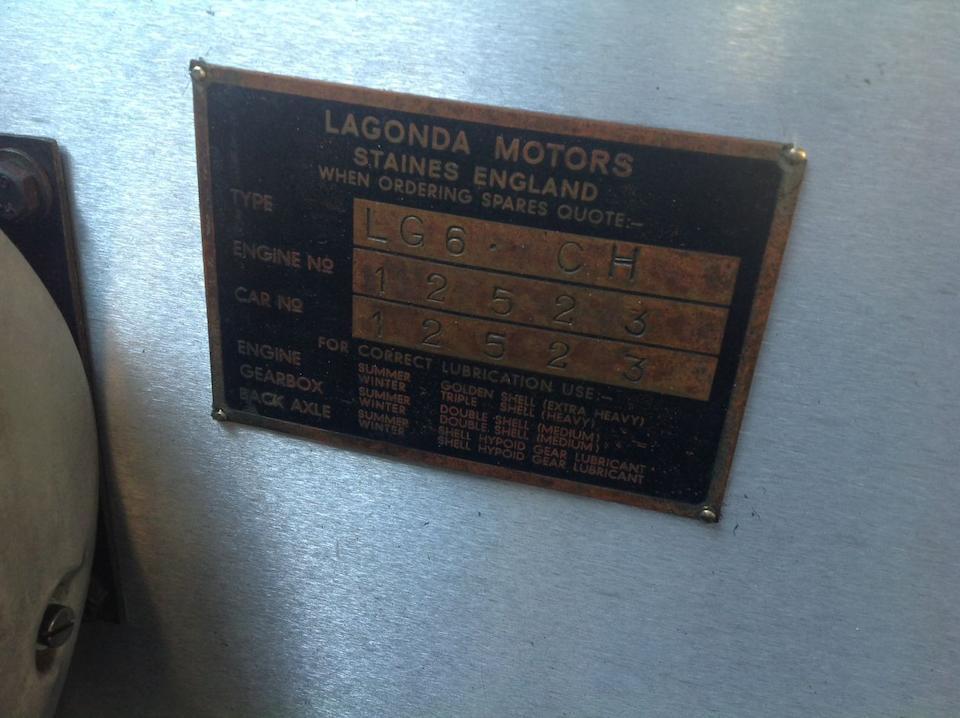 1939 Lagonda 4½-Litre LG6 Touring Limousine  Chassis no. 12523 Engine no. LG6/496/S4