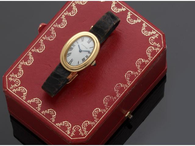 Cartier: A lady's Baignoire wristwatch