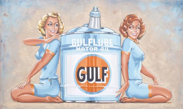 TONY UPSON « GULF OIL SALES GIRLS »,