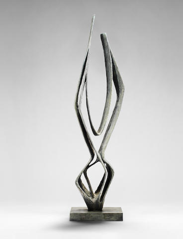 Dame Barbara Hepworth (British, 1903-1975) Cantate Domino 209.8 cm. (81 1/2 in.) high (including the base) (Conceived in 1958, the present cast is number 2 from an edition of 6 and was cast by the Art Bronze Foundry. BH.244)